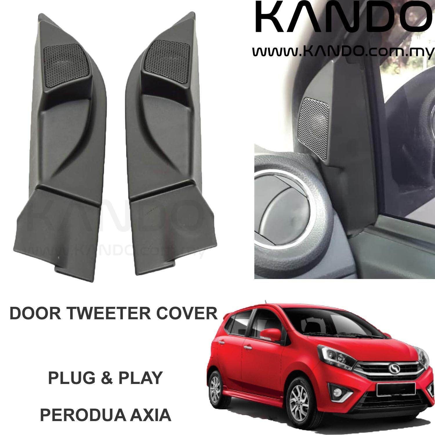 AXIA Tweeter Cover Perodua Axia Tweeter Refitting Door Angle Tweeter Housing Cover Stereo Installation - One Pair