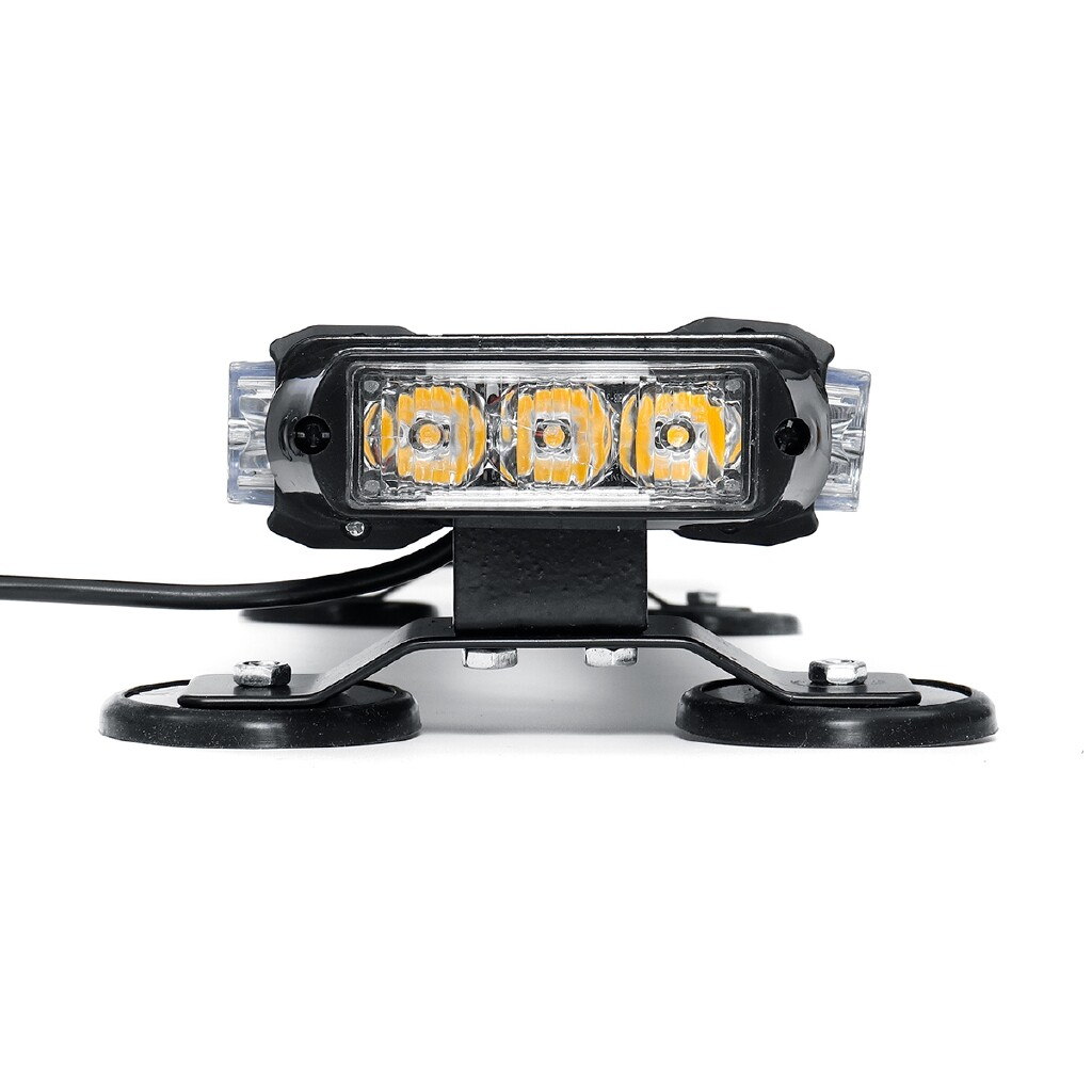 Car Lights - 21 12V 144W 42 LED Magnetic Strobe Flash Warning Light Bar Amber & White Lamp - Replacement Parts