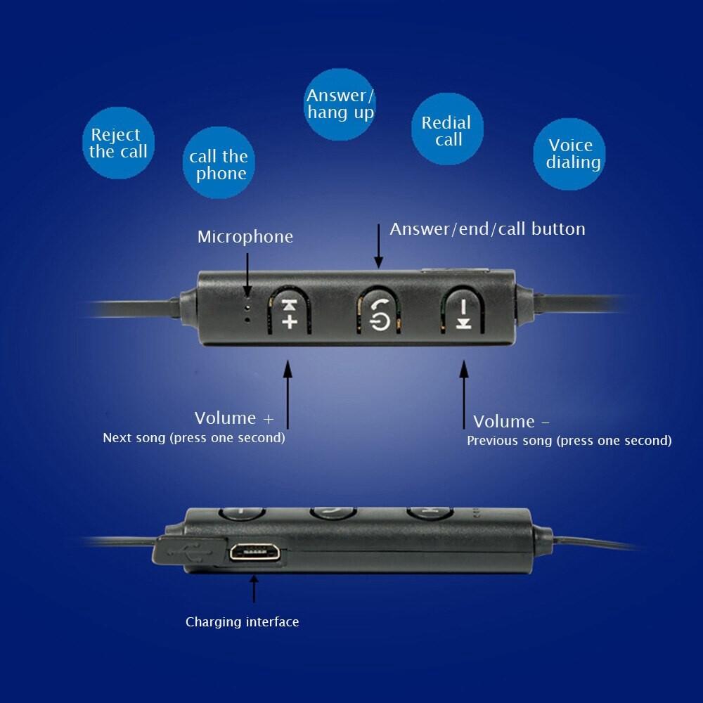 WIRELESS BLUETOOTH Headphones Double Stereo IPX4 Waterproof Sport Earphone - YELLOW / RED / BLUE