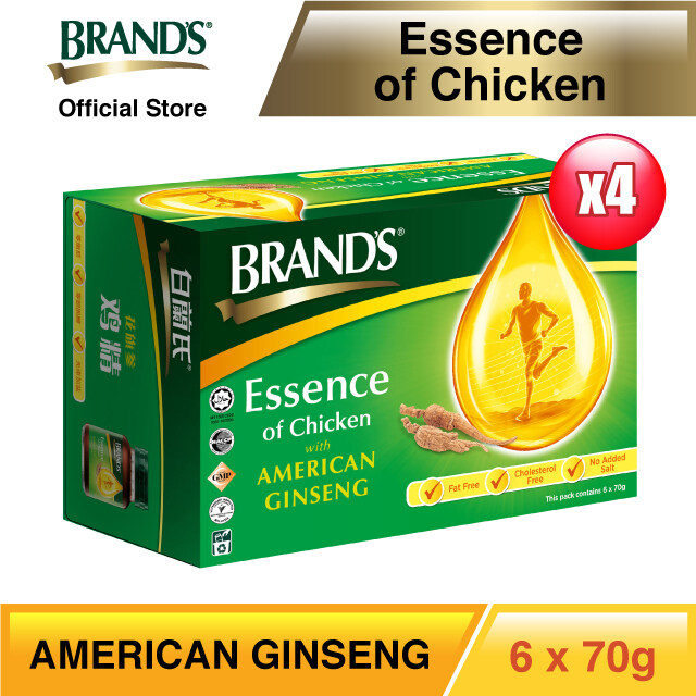 BRANDS® Essence of Chicken with American Ginseng (4 x 6s) - 24 bottles x 70gm