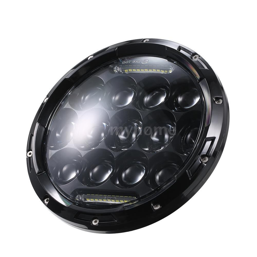 Lighting - DC12-24V 75W 37 LED Round Circle Day Running Car Light Driving Lamp 2 Pack 3 Lighting Modes (Low - Home & Living