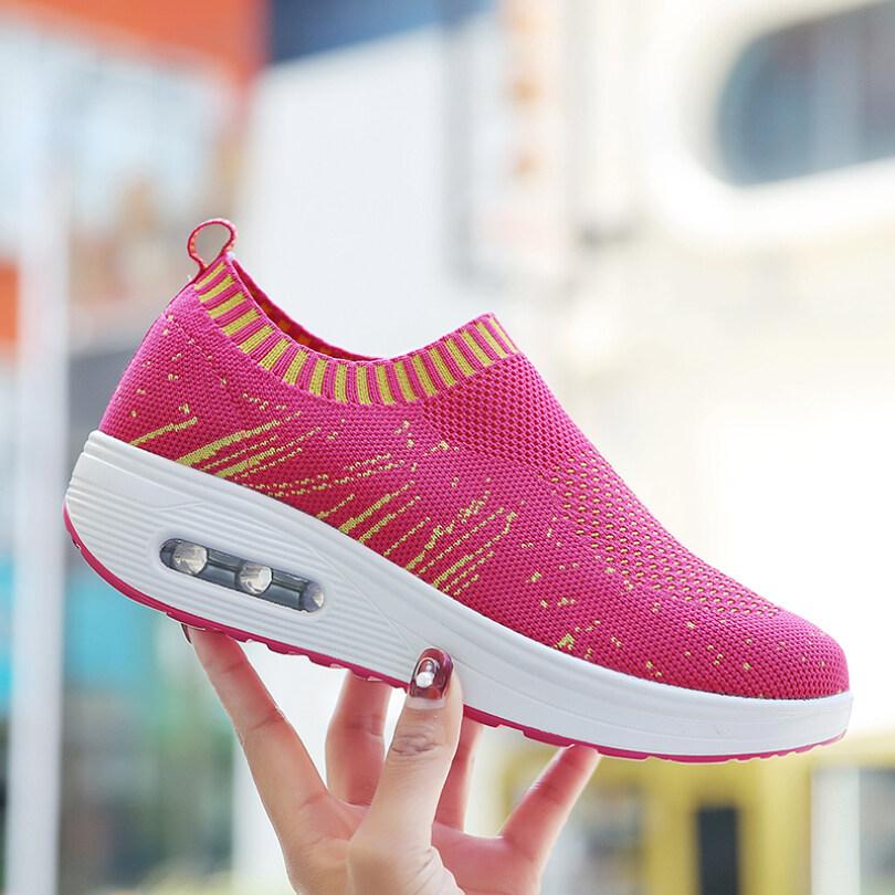 Lady Thể Thao Thời Trang Giày Lắc Thoáng Khí Phụ Nữ Giày Thể Thao Phụ Nữ Đế Bánh Mì Đơn Giản Sneakers AIRAVATA giá rẻ