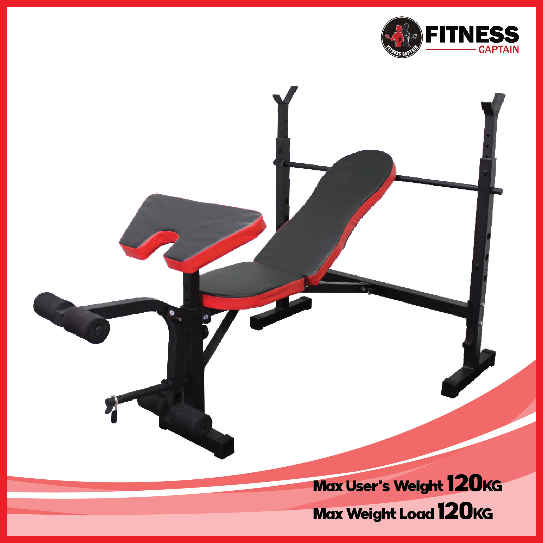Adjustable weight lifting barbell bench press