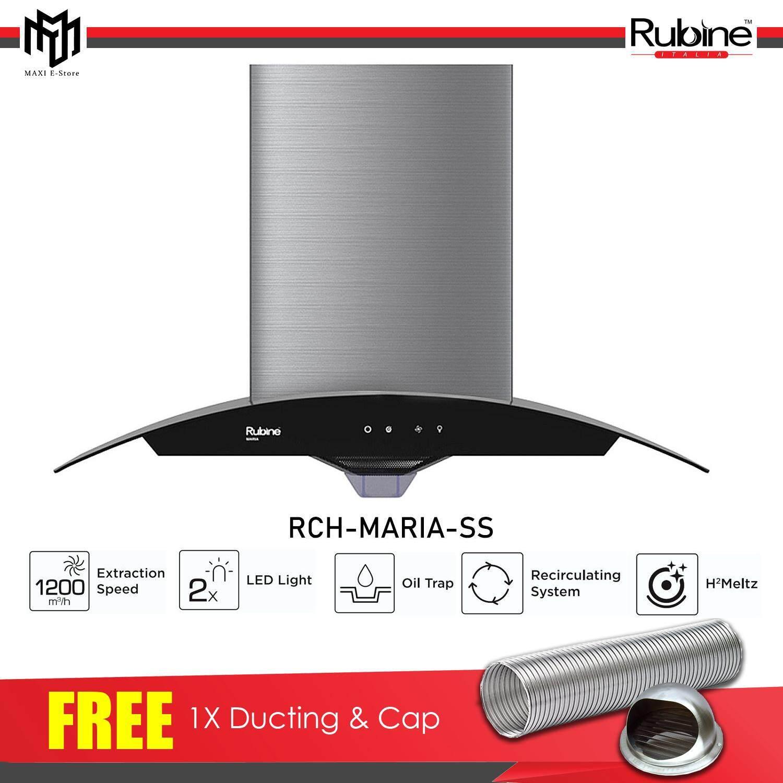 [FREE DUCTING SET] Rubine Designer Cooker Hood RCH-MARIA-SS 1200m3/hr
