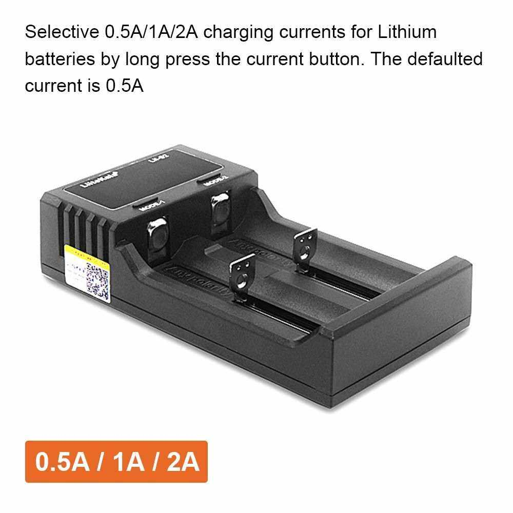 Liitokala Lii-S2 Battery Charger LCD 2 Slots for 18650 26650 21700 18350 AA AA Lithium NiMH Battery Auto-polarity Detector Charger (Standard)