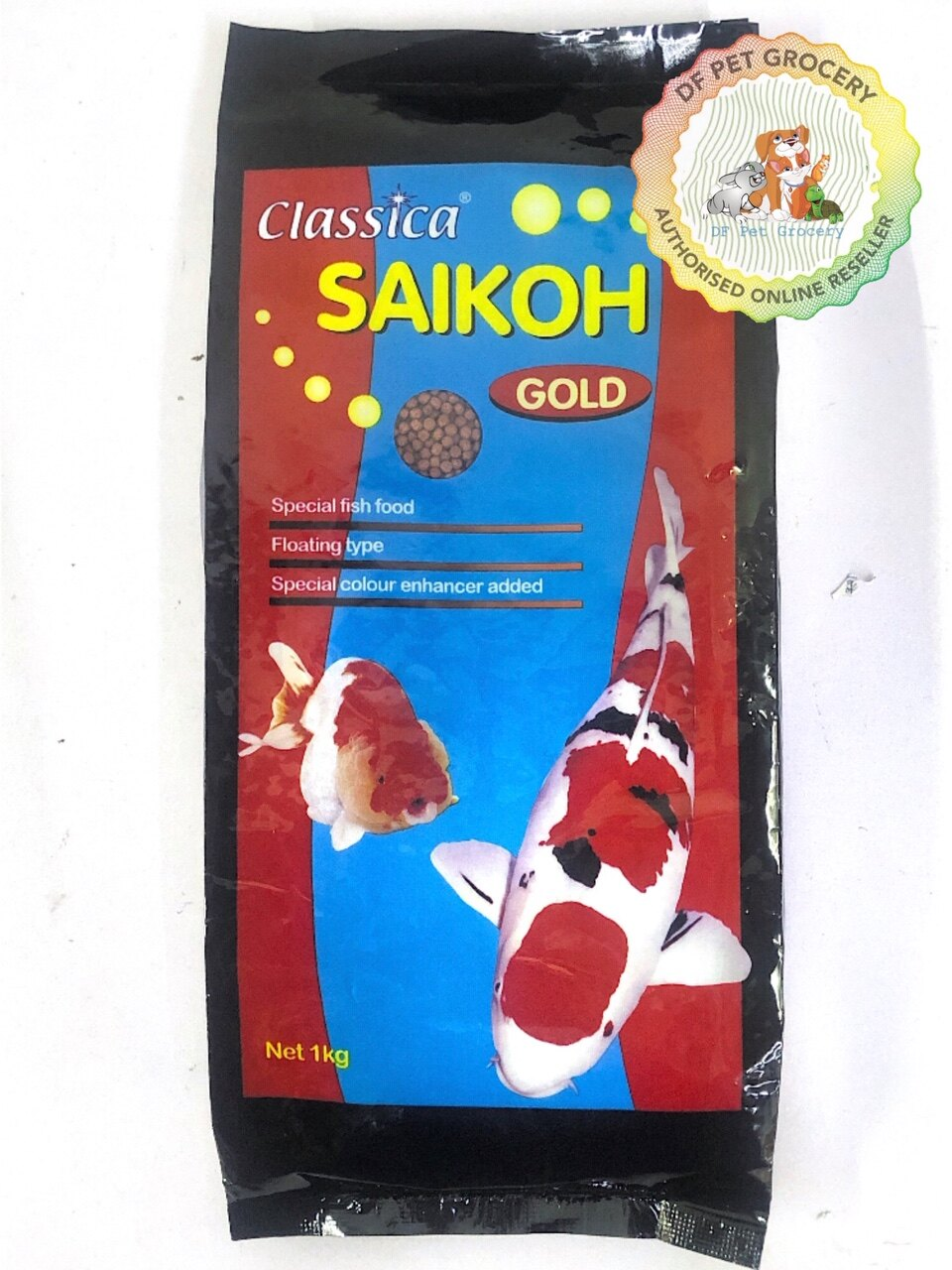 Saikoh Classica Gold Fish Food 1kg (M Size) 4mm FF772