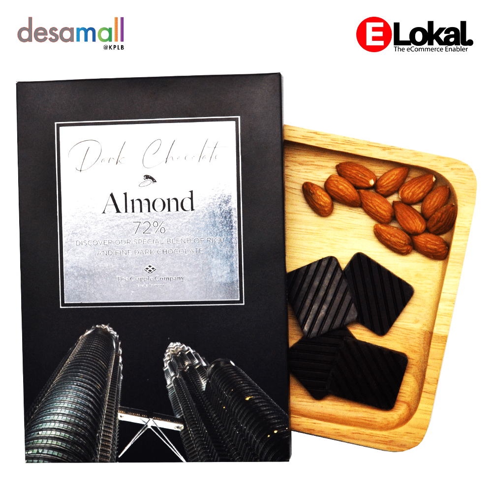 C'APPLE Dark Chocolate Almond 72%