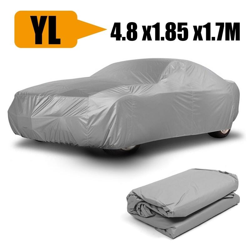 Exterior Car Care - YL PEVA No Ear Silver Gray Universal Car Cover UV Resistance Anti Seamless zhibinoppa
