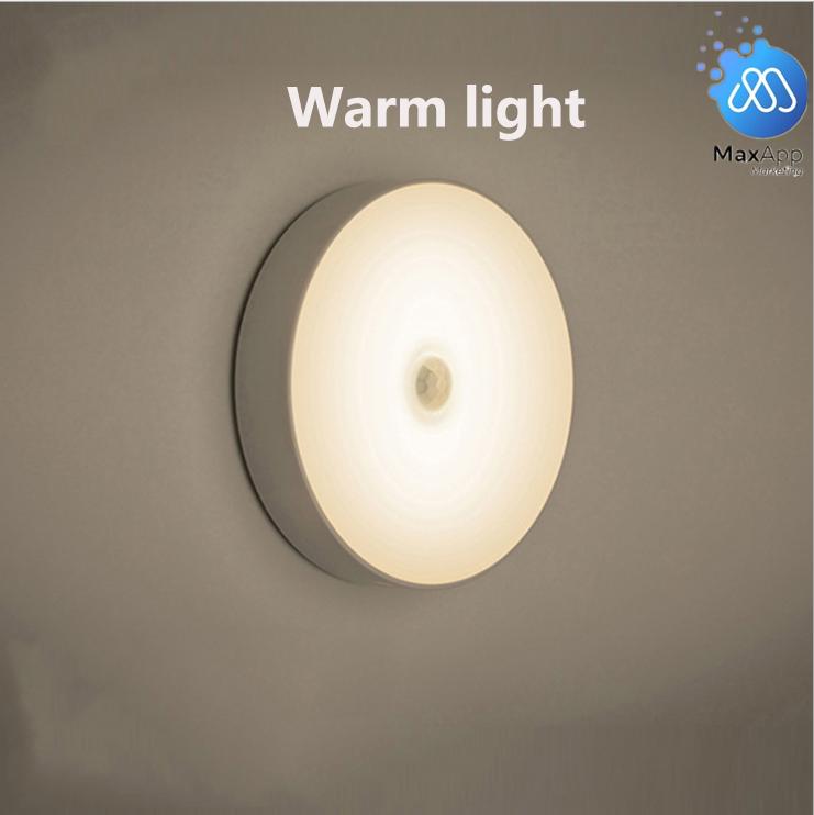 USB Rechargeable LED Motion Sensor Night Light Wireless Body Induction Lamp Motion Sensor Light 6 LED Lampu Sensor LED