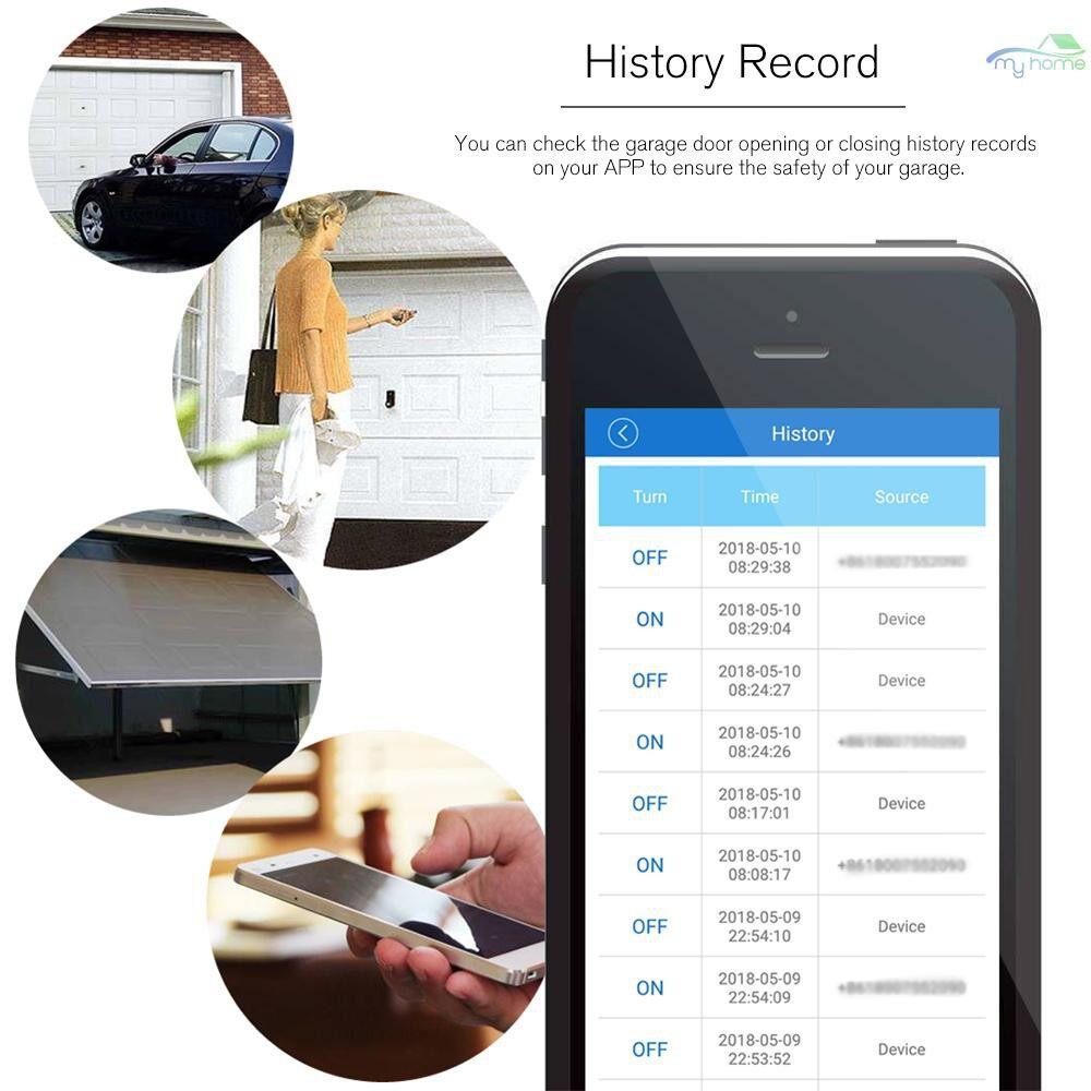 DIY Tools - EACHEN WiFi Smart Switch Garage Door Controller Compatible Garage Door Opener Smart Phone Remote - BLACK