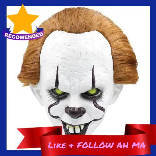Best Selling Portable Waterproof 2019 Pennywise Bucktooth Clown Mask Halloween Horror Mask Haunted House Pretend COS Latex Mask (2)