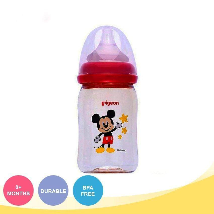 PIGEON Wide Neck Nursing PPSU Bottle -Mickey (160ml) 26631 & Mickey (240ml) 26632