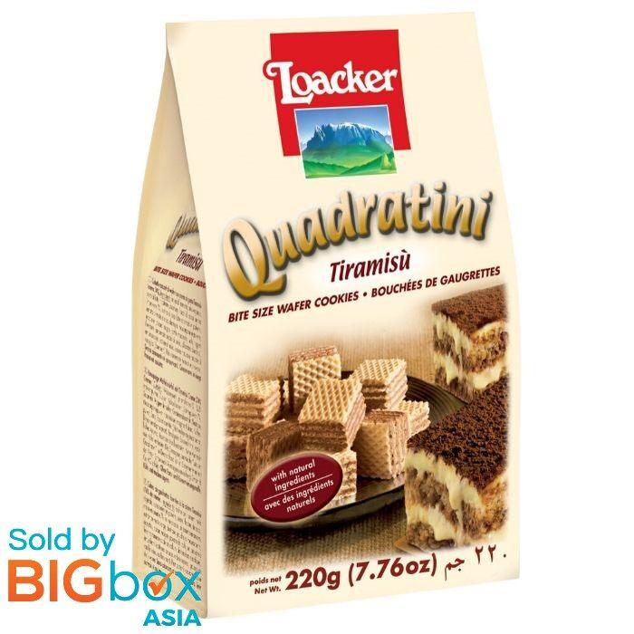 Loacker Quandratini Sandwich 200g - Tiramisu