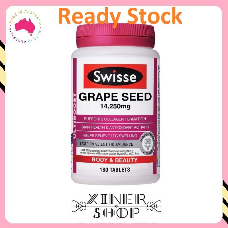 [Ready Stock EXP Date: 10/2021] Swisse Ultiboost Grape Seed 14,250mg ( 180 Tablets )(Made In Australia)