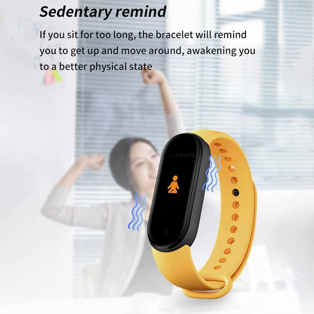 M5 Smart Bracelet Sports Watch 0.96-Inch TFT Screen BT4.2 Fitness Tracker IP67 Waterproof Sleep/Heart Rate/Blood Pressure Monitor Pedometer Multiple Sports Mode Notification/Call/Sedentary Reminder Remote Camera Compatible with Android iOS Black (Black)