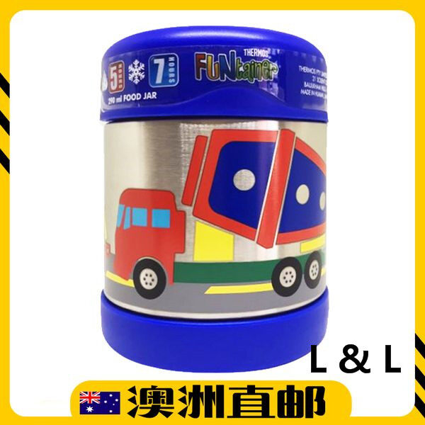 [Pre Order] Thermos 290mL FUNtainer Stainless Steel Vacuum Insulated Food Jar - Truck Blue (Import from Australia)