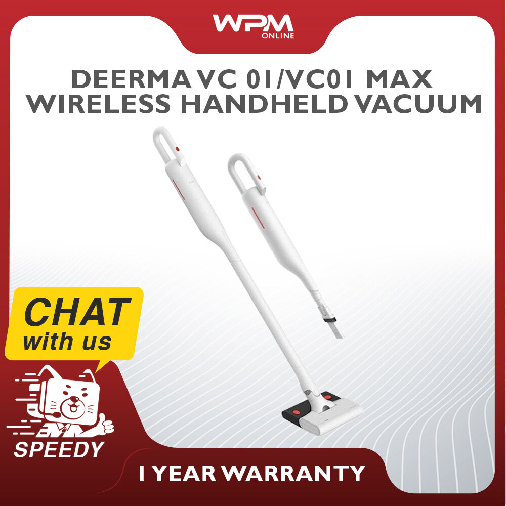 Deerma VC01 / VC01 MAX Wireless / Cordless Vacuum Cleaner Ultra Light Handheld Vacuum with 2 Suction Power