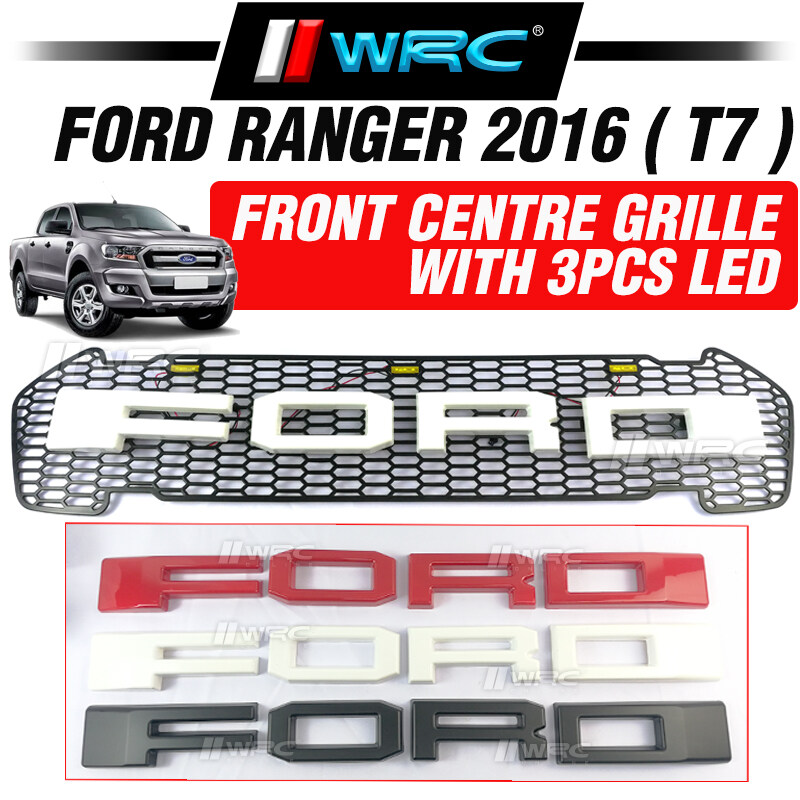 Ford Ranger 2016 ( T7 ) Front Centre Grille With 3pcs LED ( Black )