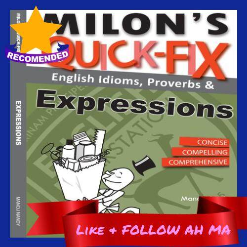 Best Selling Milon's Quick-Fix: English Idioms Proverbs & Expressions Suitable for Exam Improve Basic English Skills (Ready Stock)