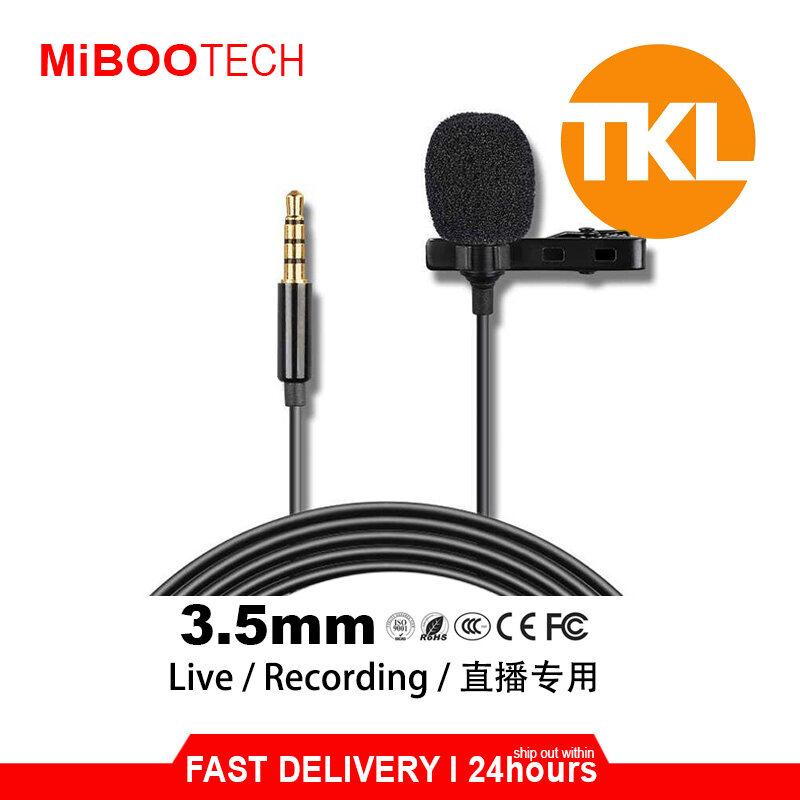 [Miboo] Original TKL Professional Live Mini Lavalier Microphone Dual Mic 3.5mm Interface wired Lapel Clip Mic