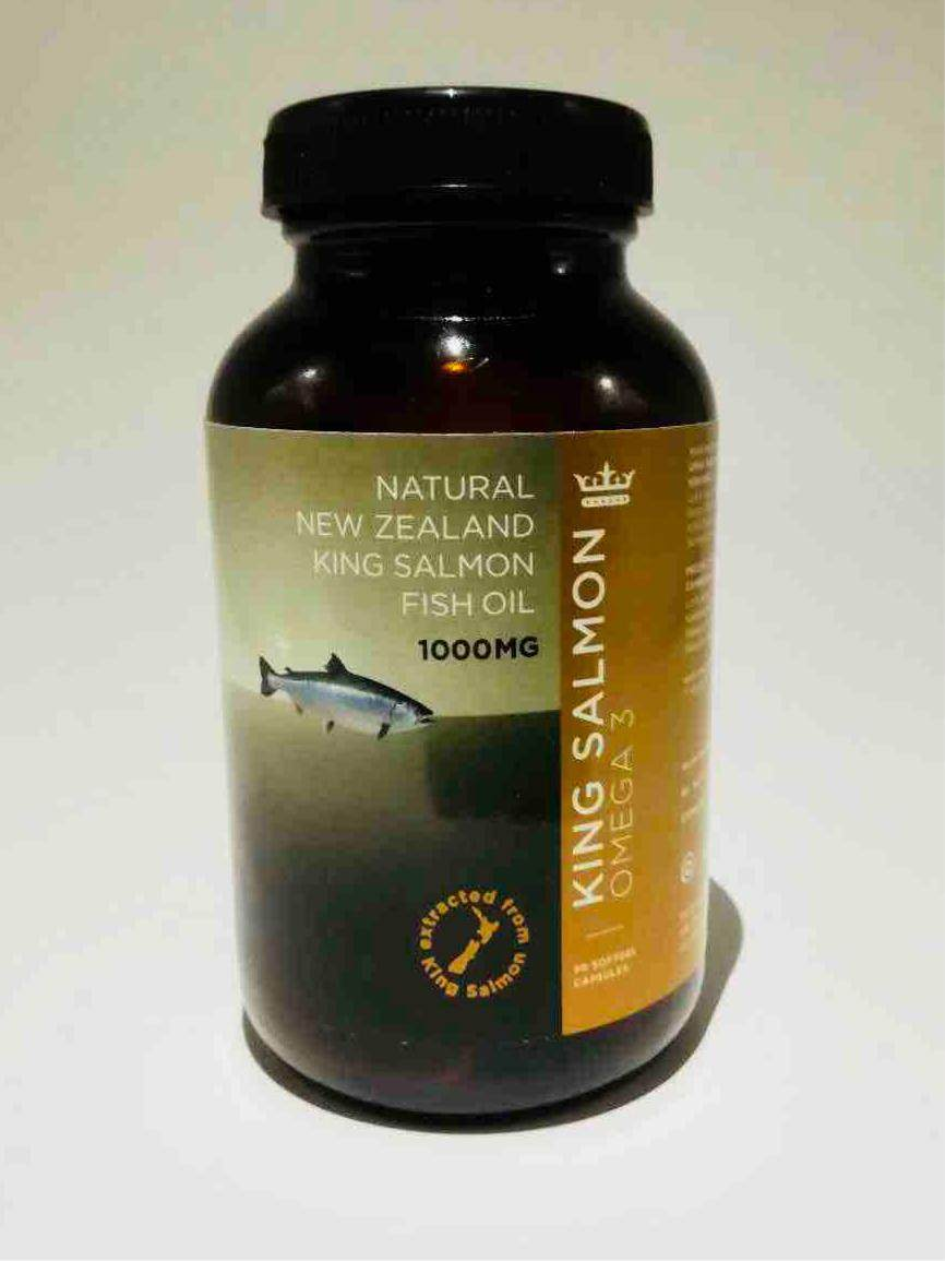 100% Pure New Zealand King Salmon Fish Oil (PREMIUM QUALITY)