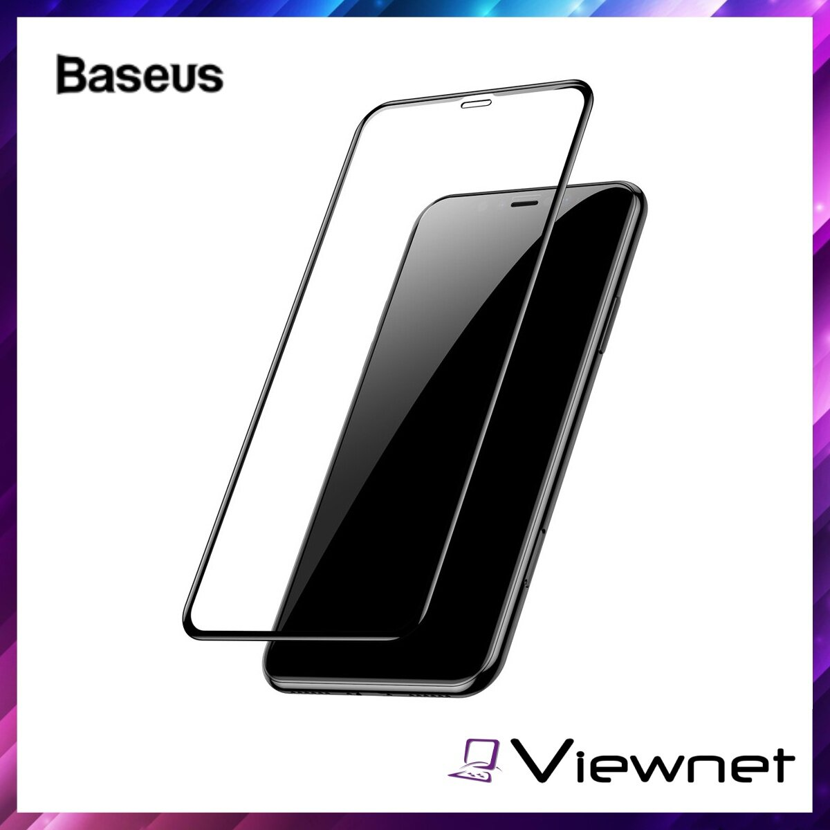 Baseus 0.3mm Full-screen and Full-glass Tempered Glass Film (2pcspack+Pasting Artifact) for iPhone XR / 11 6.1inch, Ultrathin, Tough anti-explosion structure, Oleophobic coating