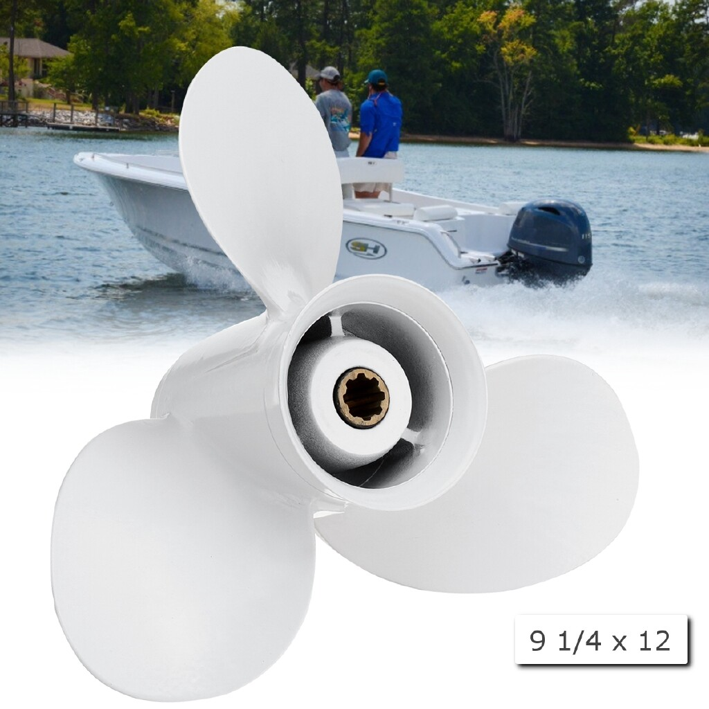 Moto Spare Parts - 9 1/4 x 12 Aluminum Boat Outboard Propeller For Yamaha 9.9-15HP 683-45941-00-EL - Motorcycles, & Accessories