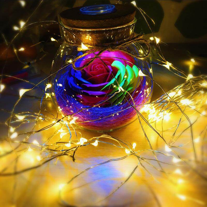 10 Meter 100 Led Battery Operated Copper / Silver Wire Christmas Decoration Fairy Light , Warm White (Starzdeals.my)