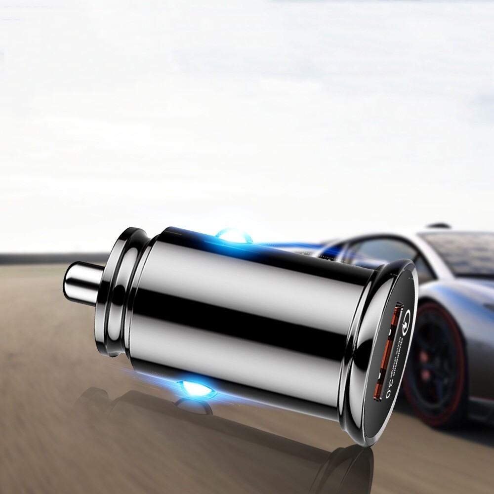 Chargers - QC3.0 3A Fast Charging USB Car Charger For iPh X XS HUAWEI P30 Oneplus 7 XIAOMI MI9 S10 - Cables