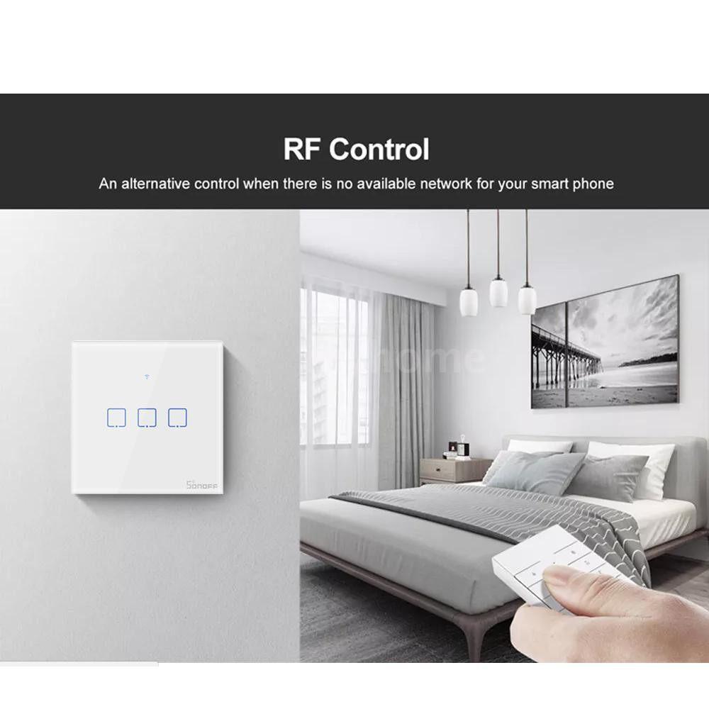 Lighting - T1 Intelligent Switch EU/UK AC 100-240V 1/2/3 Gang TX Series WIFI Wall Switch 433Mhz RF - Home & Living
