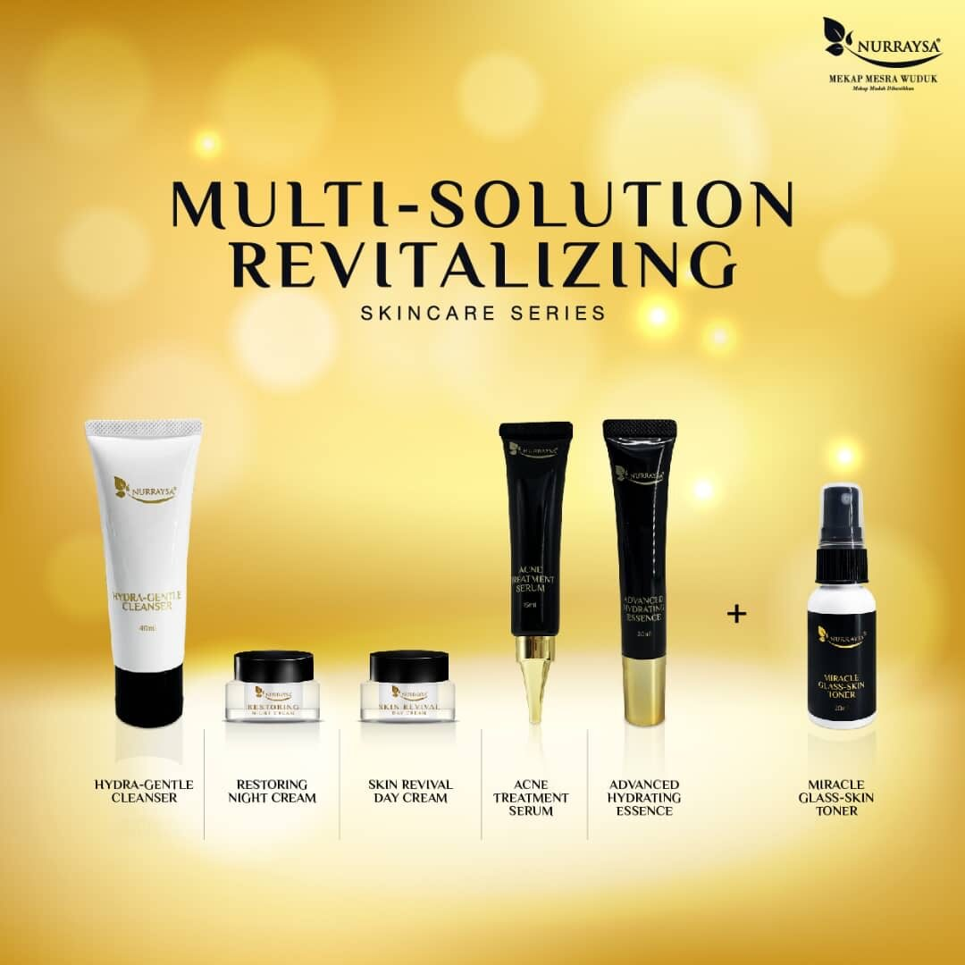 5 IN 1 MULTI SOLUTIONS SKINCARE SERIES  + MIRACLE TONER (15ml) SET FOR ALL TYPES OF SKIN