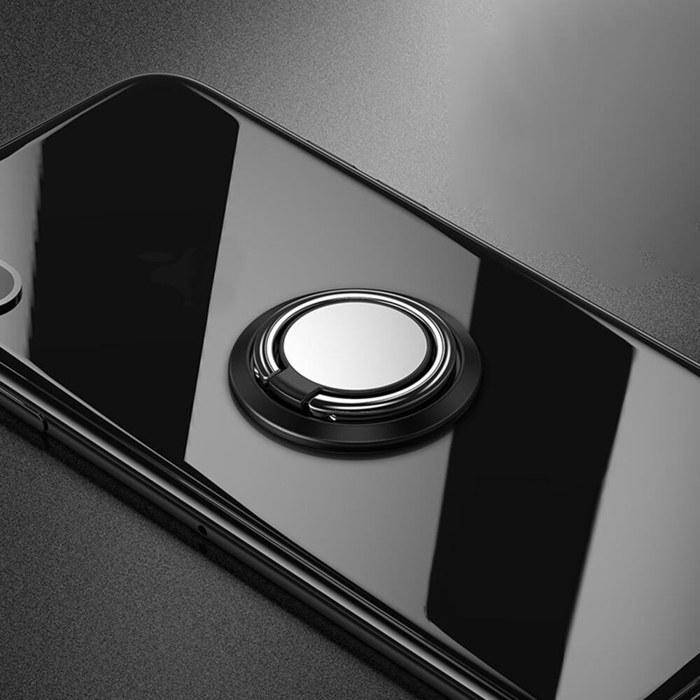 Phone Holder & Stand - Magnetic Car Phone Holder Rotable Finger Ring Mobile Phone Stand Holder - PINK / RED / BLACK / BLUE / GOLD