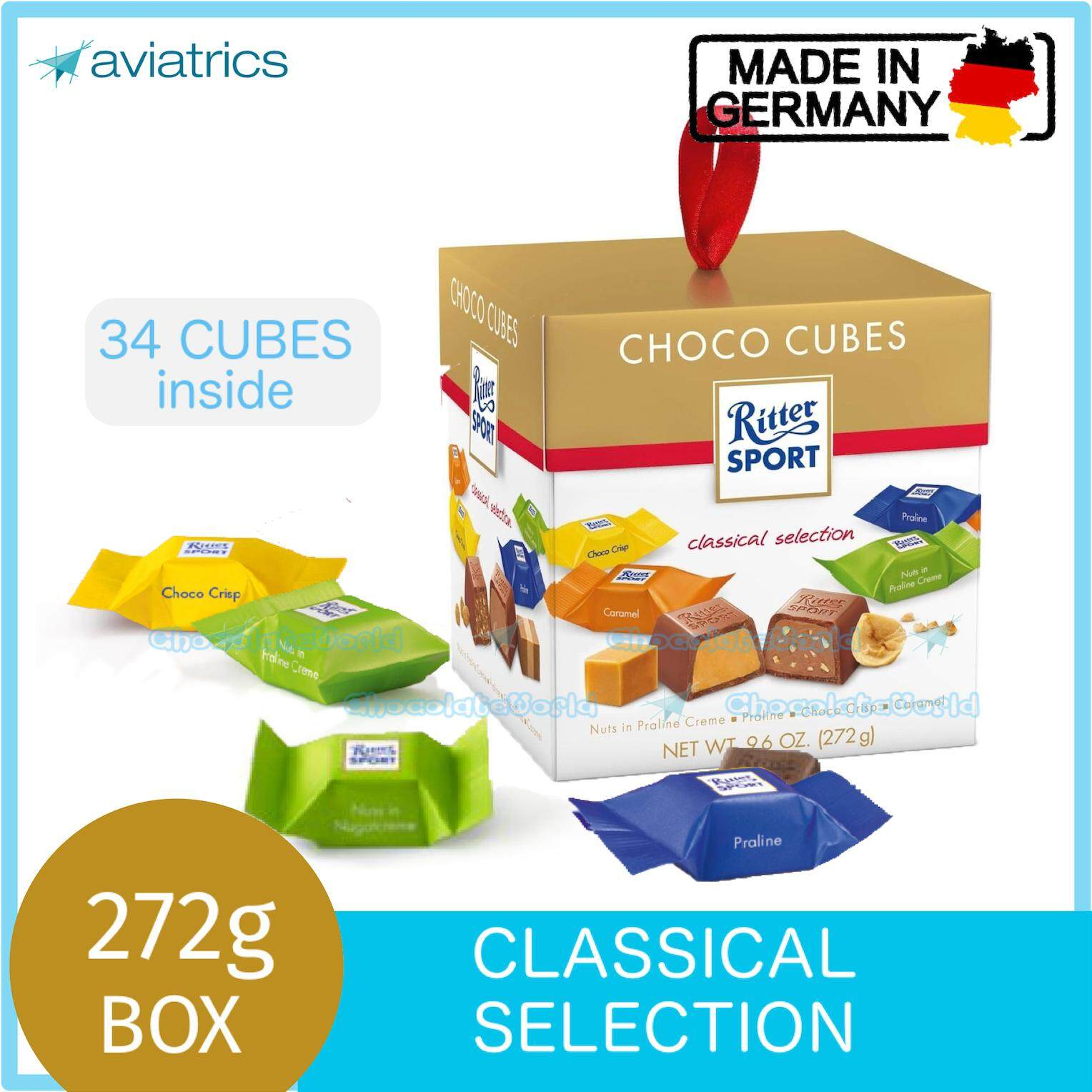 Ritter Sport Choco Cubes Classical Selection 272g (Made in Germany)