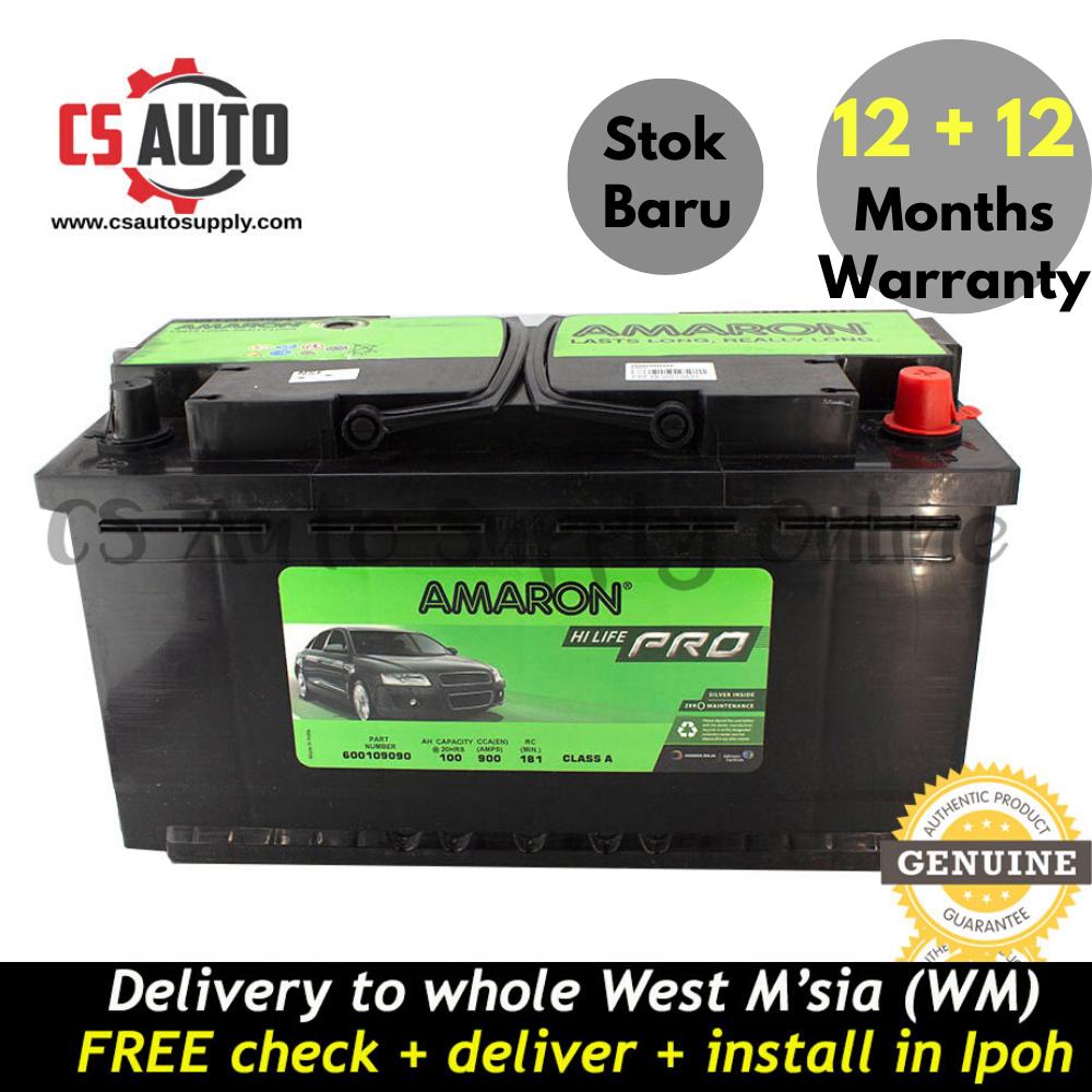 Amaron DIN100 DIN100L Hi Life Pro Battery MF Genuine for Mercedez Benz and BMW Ipoh area