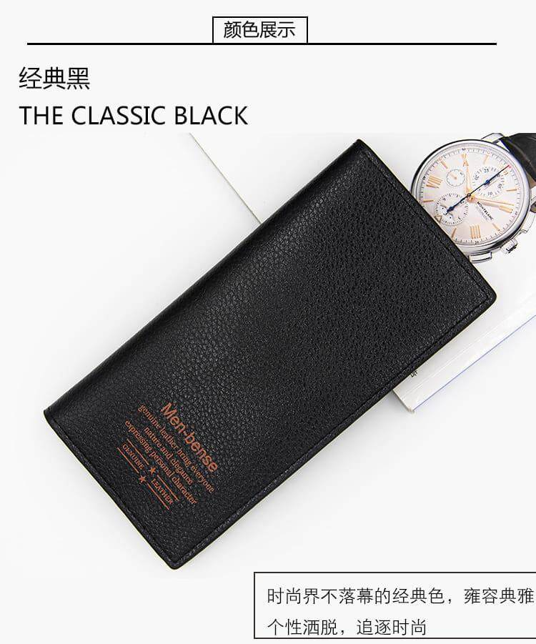 [READY STOCK] 2019 European Series Fashion Men's Multifunctional Luxury Long Purse Fengshui Portable Long Wallet With Zip Clutch Card Coin ID Lightweight Flexibility Genuine Leather Hand Carry Bag Perfect Gift For Father Day Dompet Panjang Kulit