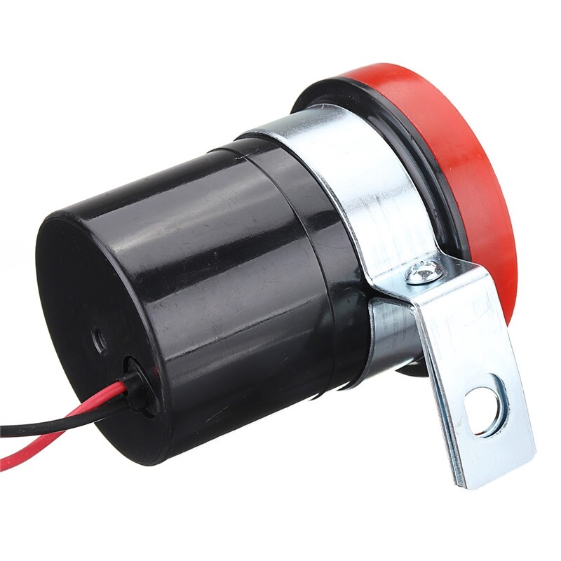 Brake Systems - Electric 12-24V Car Reversing Horn 105DB Super Loud 4 Ohm Universal For Cars Red - Car Replacement Parts