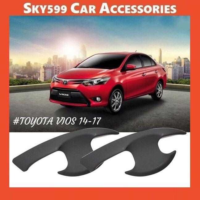 Toyota Vios 2013-2018 Matte Black Door Handle Inner Bowl Inserts Cover 4pcs