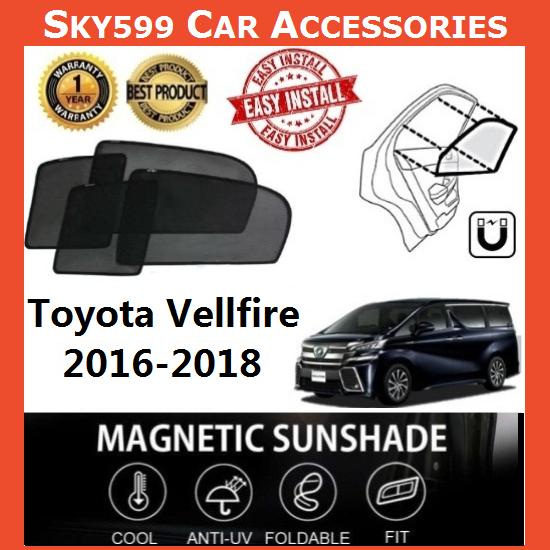 Toyota Vellfire 2016-2020 Magnetic Sunshade 【6pcs】