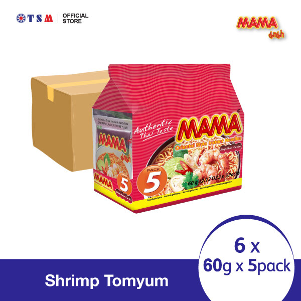 MAMA NOODLE SHRIMP TOMYAM 60G X 5 X 6 PACKS