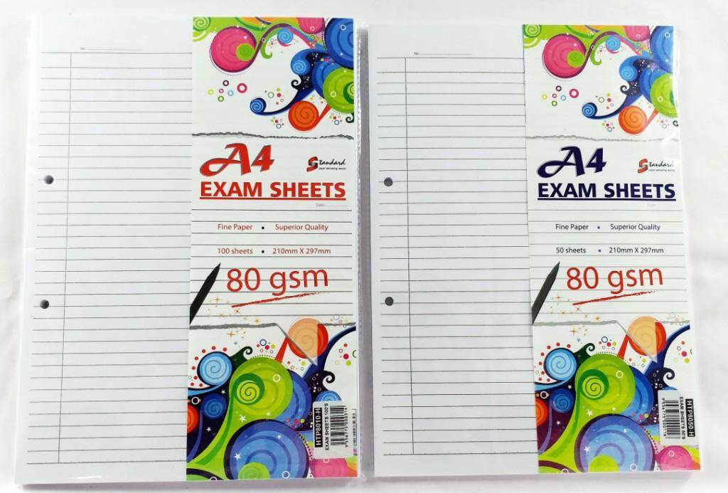 STANDARD HTP8010 100's A4 80gms EXAM SHEETS x 3packs