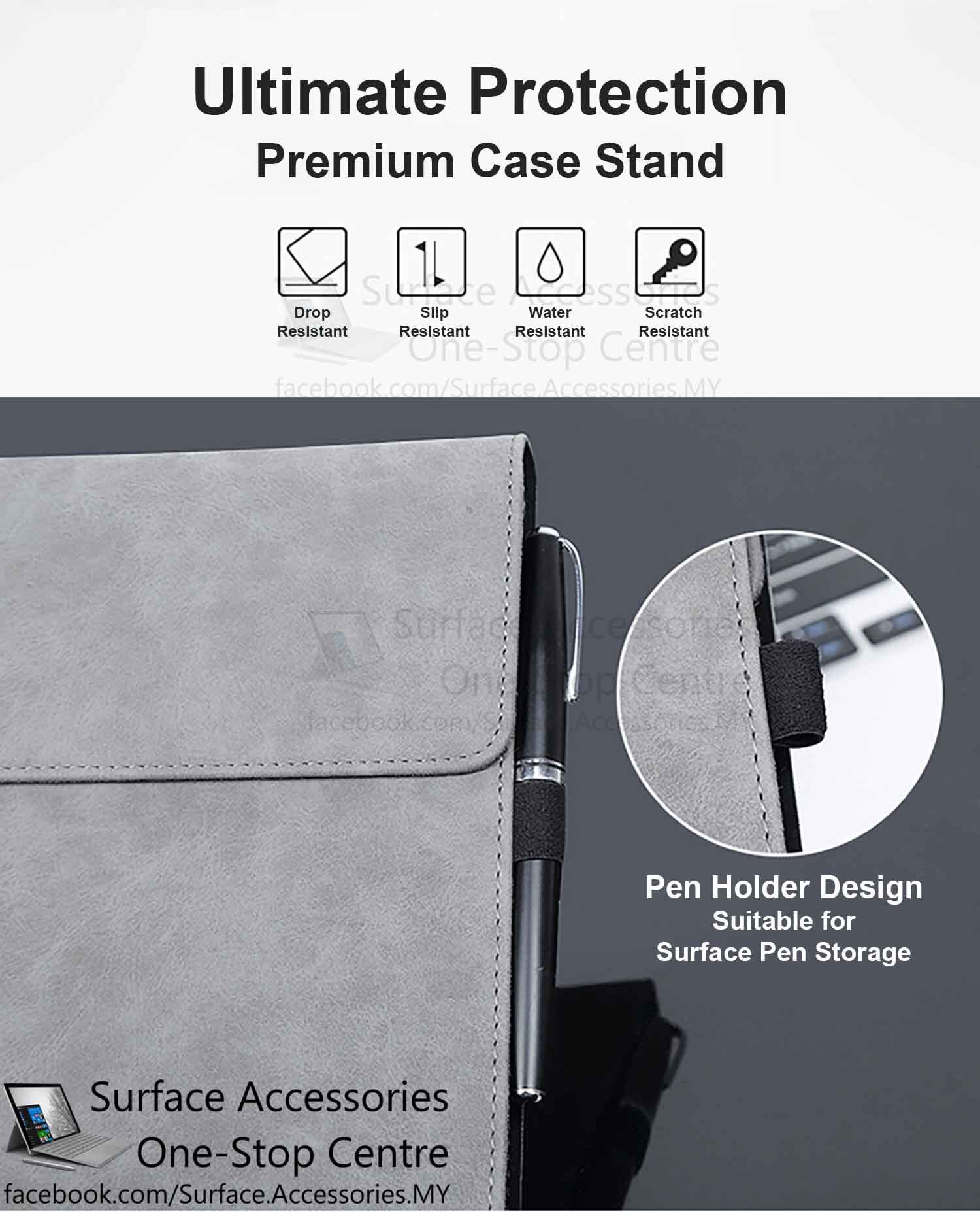 [MALAYSIA]Microsoft Surface Pro X Casing Surface Pro X Cover Premium Ultimate Case Stand Flip Case