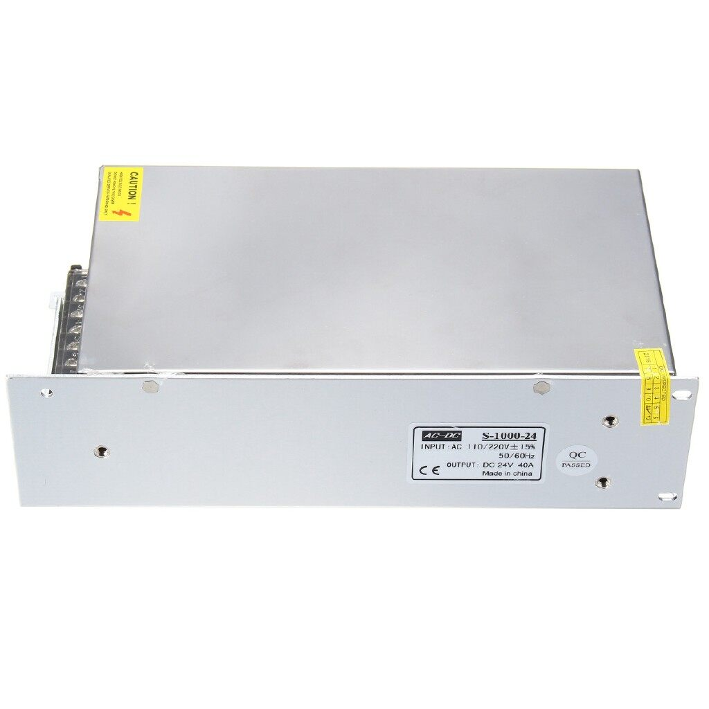 Chargers - 24V 40A 1000W Switch Driver AC110/220V Regulated Switching Supply for LED Strip - Cables