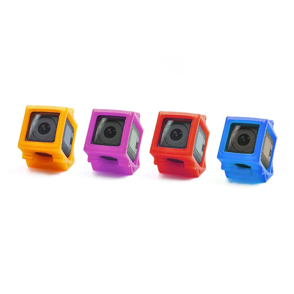 Sports & Action Cameras - 1 Piece GEPRC 3D Printed TPU Action Camera Protective Case Shock Absorption - PURPLE / ORANGE / RED / BLUE