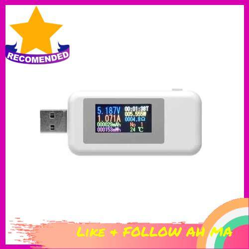 Best Selling KWS-MX18 10 in1 Digital LCD Display USB Tester Voltage Current Tester Power Meter Timing Ammeter USB Charger Tester Detector Voltmeter (White)