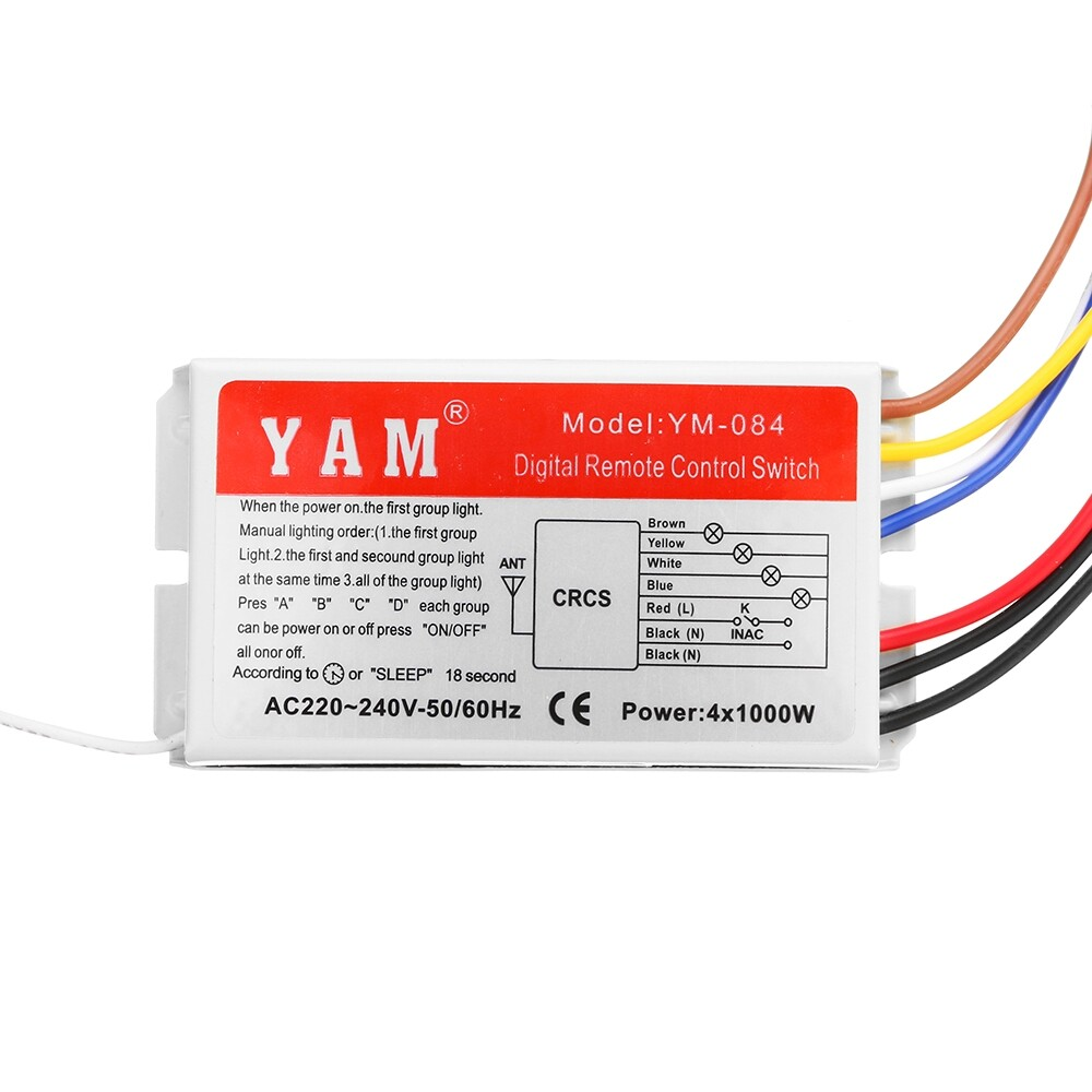 DIY Tools - YM-084 4 Channel Digital WIRELESS Remote Control Switch For Smart Home LED Light - Home Improvement