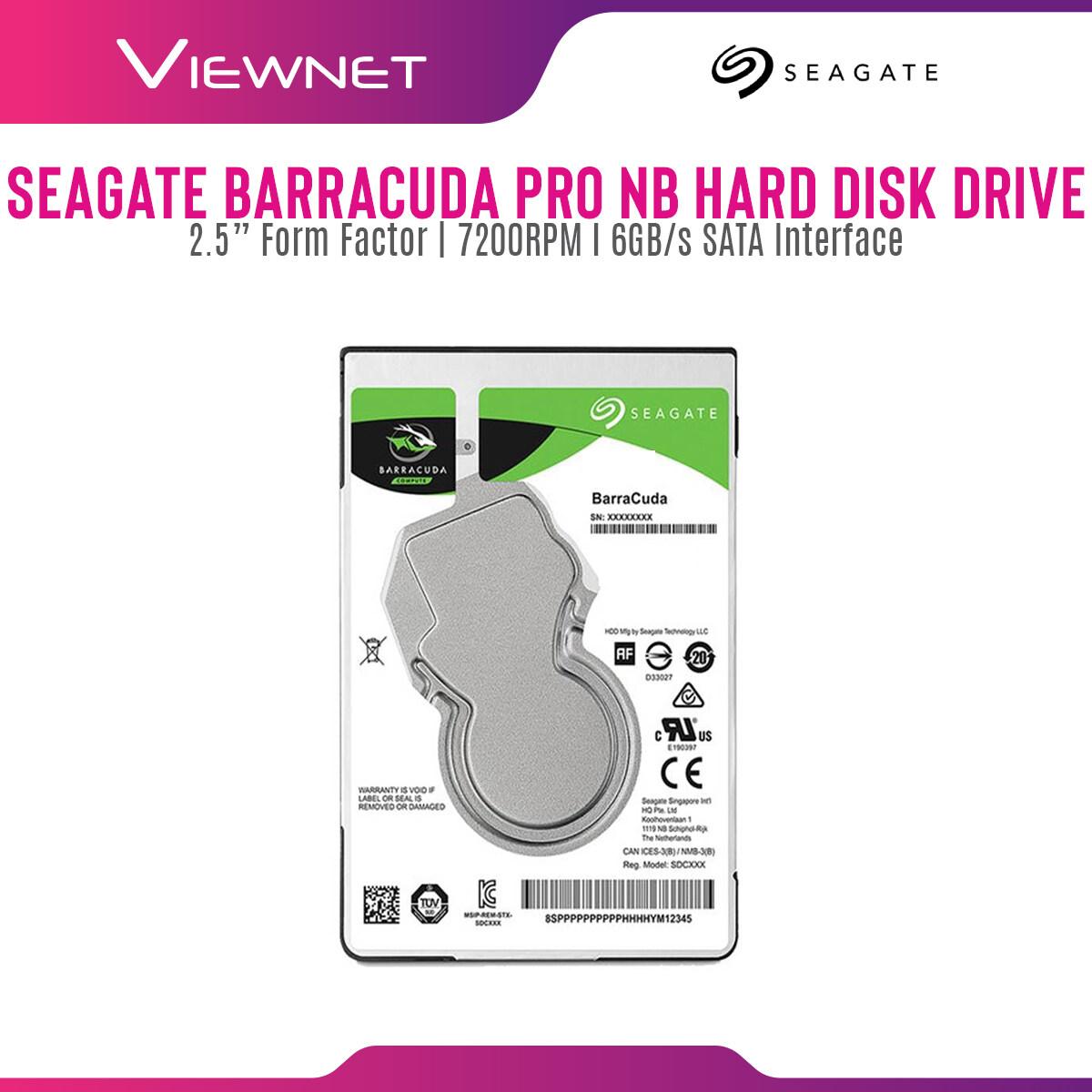 Seagate Barracuda 1TB 128MB 7200RPM 2.5