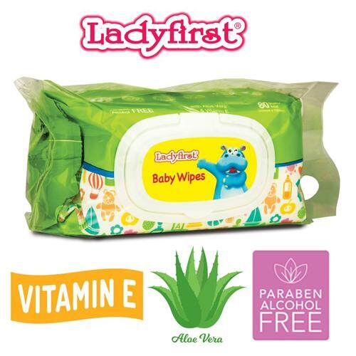 Ladyfirst Hipopo Baby Wipes with Fragrance (80's Twin Pack)