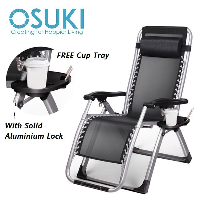 OSUKI Relax Chair Foldable Adjustable (FREE Cup Tray)