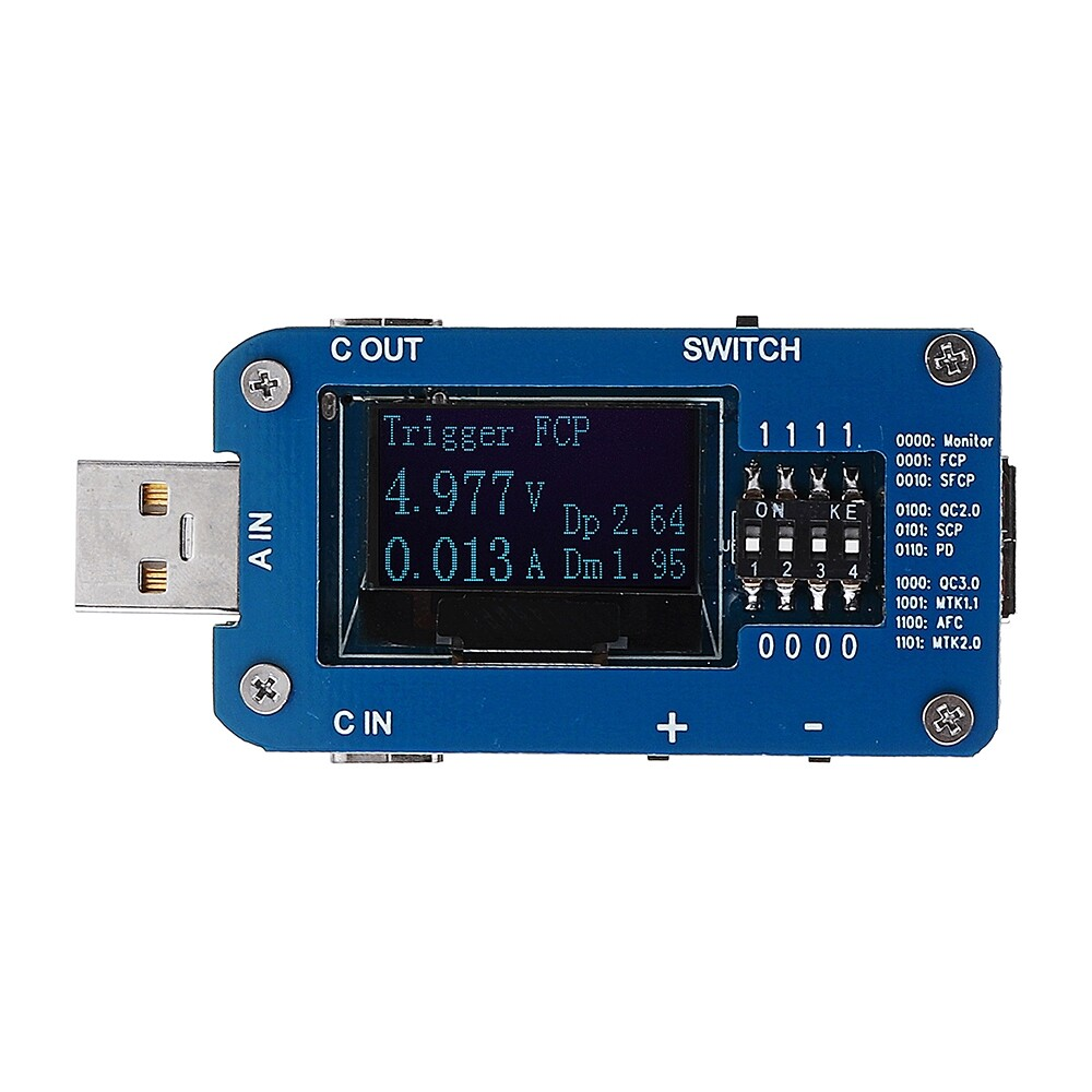 DIY Tools - QC2.0 3.0 Type-C PD3.0 FCP AFC SCP MTK Fast Charge PD Protocol Controller Test Board USB Tester - Home Improvement