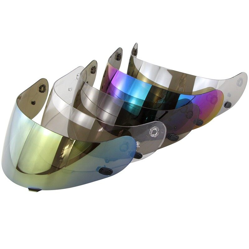 Moto Helmets - Multi Color Helmet Shield Lens For HJC CL-16 CL-17 CS-15 CS-R1 CS-R2 - RAINBOW / CHROME / GOLDEN / SMOKE / CLEAR